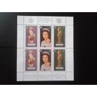 Аитутаки 1978 25 лет Коронации Елизаветы 2** Блок Михель-6,0 евро