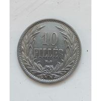 Венгрия. 10 филлеров 1909