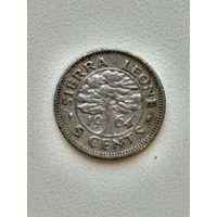 Сьерра Леоне 5 центов 1964
