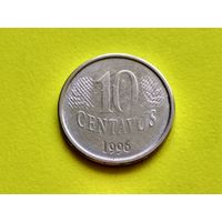 Бразилия. 10 сентаво 1996.