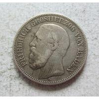 Баден Германская империя 2 марки 1877