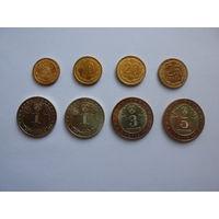 Таджикистан.Набор 2006 года из 8 монет ( 5+10+20+25 дирам ) + (1+1+3+5 cомони ) ОРИГИНАЛ.
