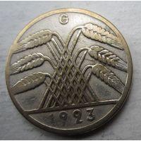 Германия. 10 рентенпфеннигов 1923 G. Довольно редкие .83