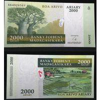 Банкноты мира. Мадагаскар, 2000 ариари