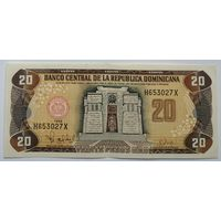 Доминикана 20 песо 1998, XF, 237