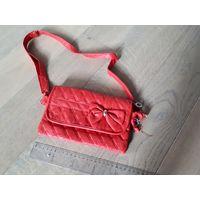 Женская сумка, клатч, красная
