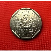56-22 Франция, 2 франка 1980 г.