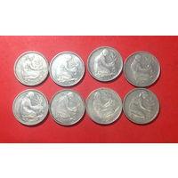 ФРГ, 8 монет по 50 пфенингов