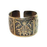 Перстень с изображением гусляра