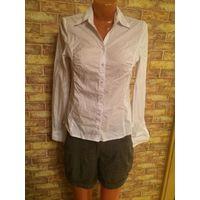 Фирменная рубашка Orsay белого цвета на 42-44 размер Хорошо тянется По груди 44 см, длина 63 см, длина рукава 63 см Обмен не интересует