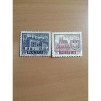 1960 Исторические польские города (Польша) 2 марки Катовице и Гнезно
