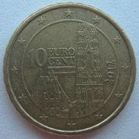 Австрия 10 евроцентов 2012 г.