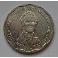 Ямайка 10 долларов, 2008 г. (Форма-круг).