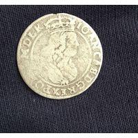 1664 шостак 6 грошей Ян II Казимир (1649 - 1668)