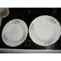 Две тарелки Tono China. Япония. Клеймо