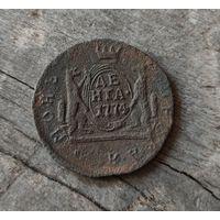 Монета Сибирская денга 1774