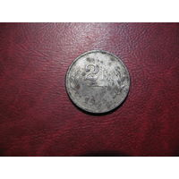 2 франка 1944 года Бельгия (оккупационное командование)