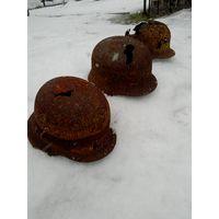 Три каски Вермахт - одним лотом! ВОВ, WW2
