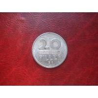 20 филлеров 1988 год Венгрия