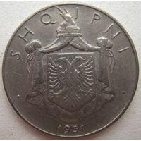 Албания 1/2 лека 1931 г.