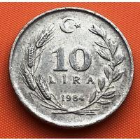123-21 Турция, 10 лир 1984 г. Единственное предложение монеты данного года на АУ