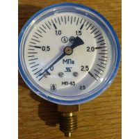 Манометр МП-63 кислородный (Манометр избыточного давления показывающий) 2,5 МПа