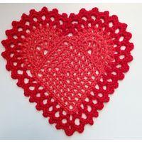 Сердце вязаное крючком
