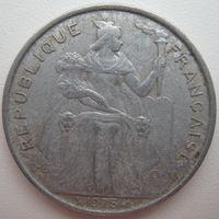 Французская Полинезия 5 франков 1975 г. (d)