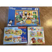 Пазлы 3 упаковки 24 Maxi , 9,16, 25,36 штук мозаика
