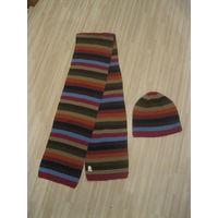 Деми комплект из шарфа и шапки для парня
