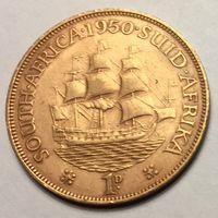Южная Африка, 1 пенни 1950