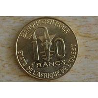 Западная Африка 10 франков 2008