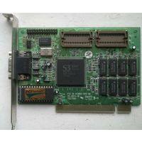 Видеокарта PCI на чипе S3Trio64 86C764X 1Мбайт от ретро-компьютера (память 1М на 8 мелких микросхемах, редкость для PCI-видеокарт)