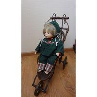 Старинная интерьерная коляска для куклы, Германиявыс. 49 см, длина 47 см