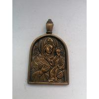 Иконка бронзовая богоматерь , литье, распродажа коллекции
