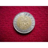 Португалия 100 эскудо 1991 г.