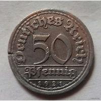 50 пфеннигов, Германия 1921 F