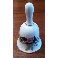 Фарфоровый колокольчик с розой. Wedgwood Англия