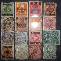 Немецкий Рейх ~ Берн ~ Подборка ~ 16 марок от 1896 года