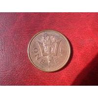 1 цент 2001 год Барбадос