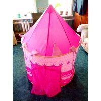 Детская игровая палатка Замок Принцессы шатёр розовый.
