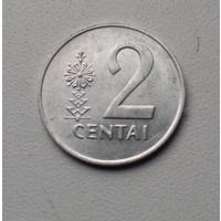 2 цента 1991 г. Литва
