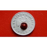 1 Рейхспфенниг -1941-А- ГЕРМАНИЯ - III Рейх - *цинк -отличное состояние-