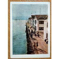 Азербайджанская СССР. Нефтяные камни. Улица на воде. 1957 г. Чистая