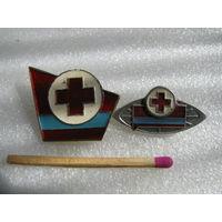Знаки. КССР. Красный крест. цена за 1 шт.
