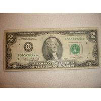 Банкнота 2 долл США 1976г