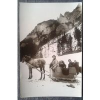 Старинное фото в Закопане. До 1917? 10х15 см