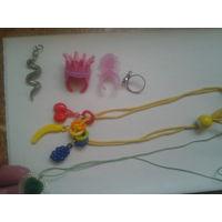 Кулон змейка, детские подвески, кольца.