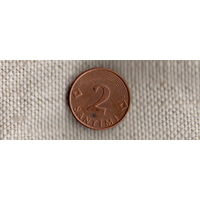 Латвия 2 сантима 2000(Qu)