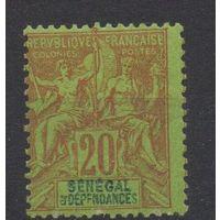 ФРАНЦИЯ\36М\Французские колонии. Сенегал. 20c. 1892г. MH. КЦ 13е
